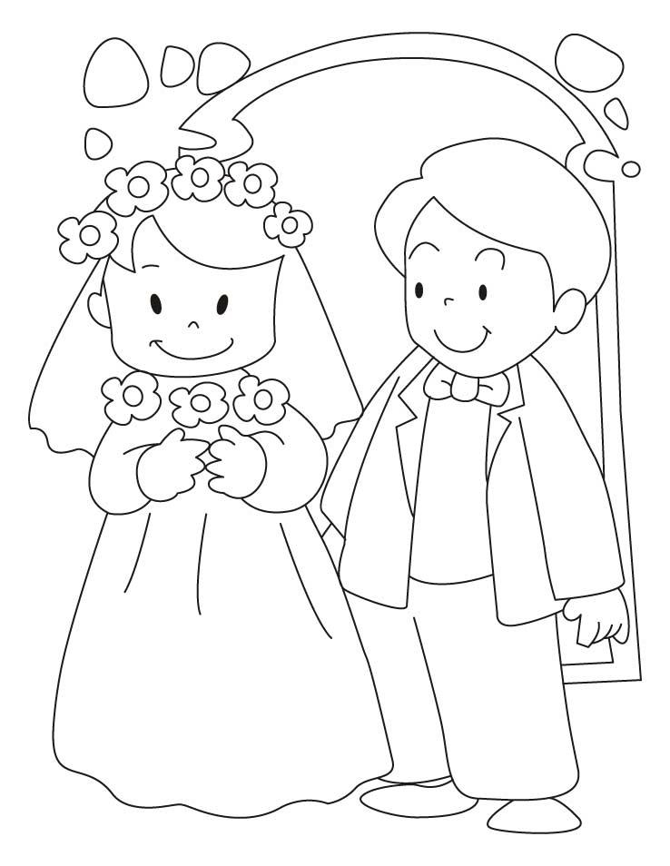 Bride coloring #7, Download drawings