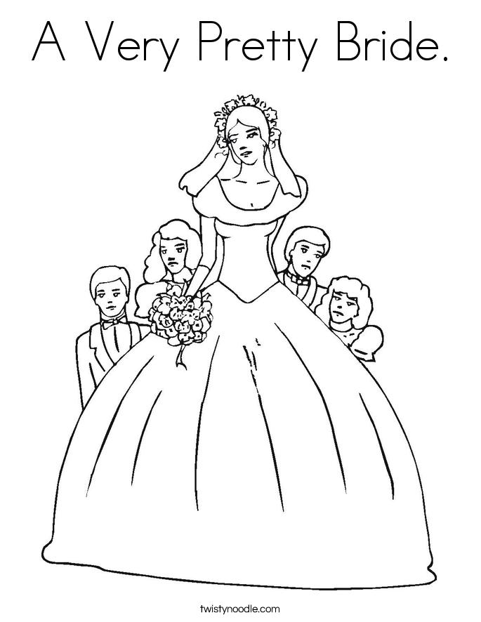 Bride coloring #6, Download drawings