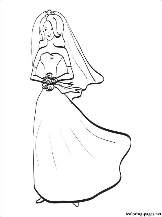 Bride coloring #4, Download drawings