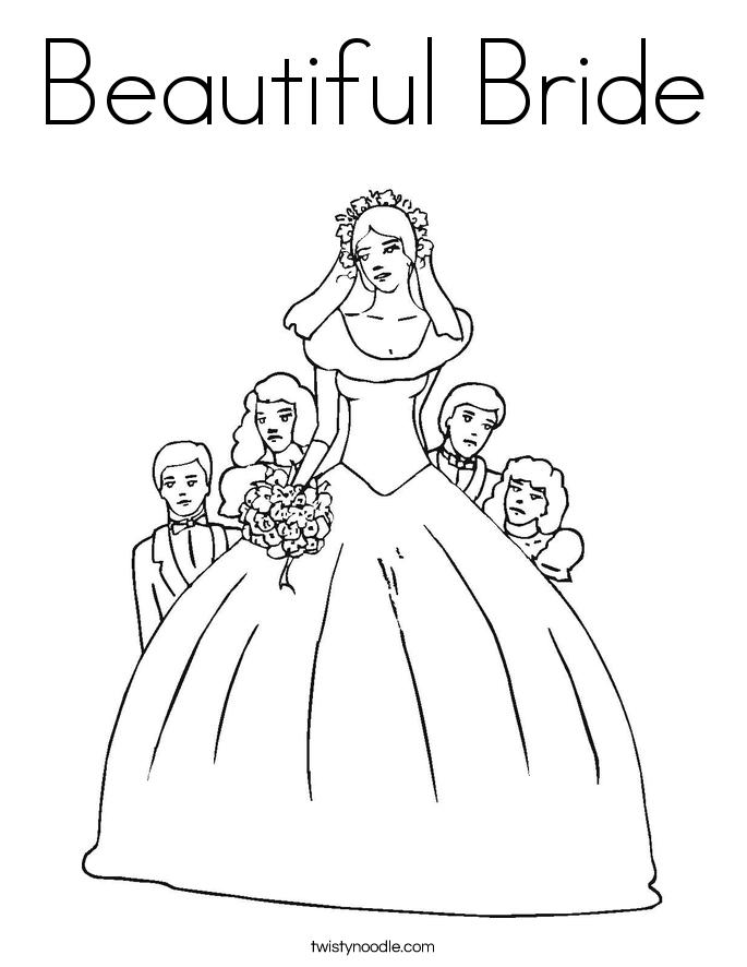 Bride coloring #18, Download drawings
