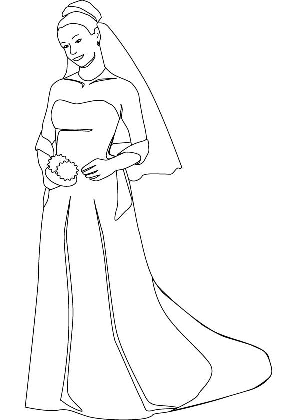 Bride coloring #16, Download drawings