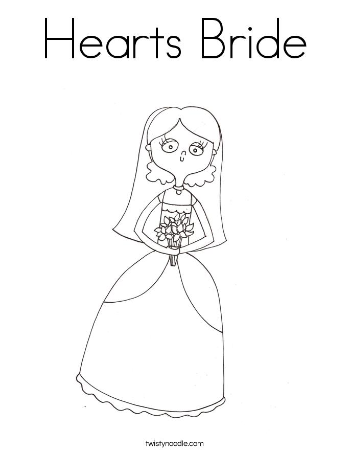 Bride coloring #12, Download drawings