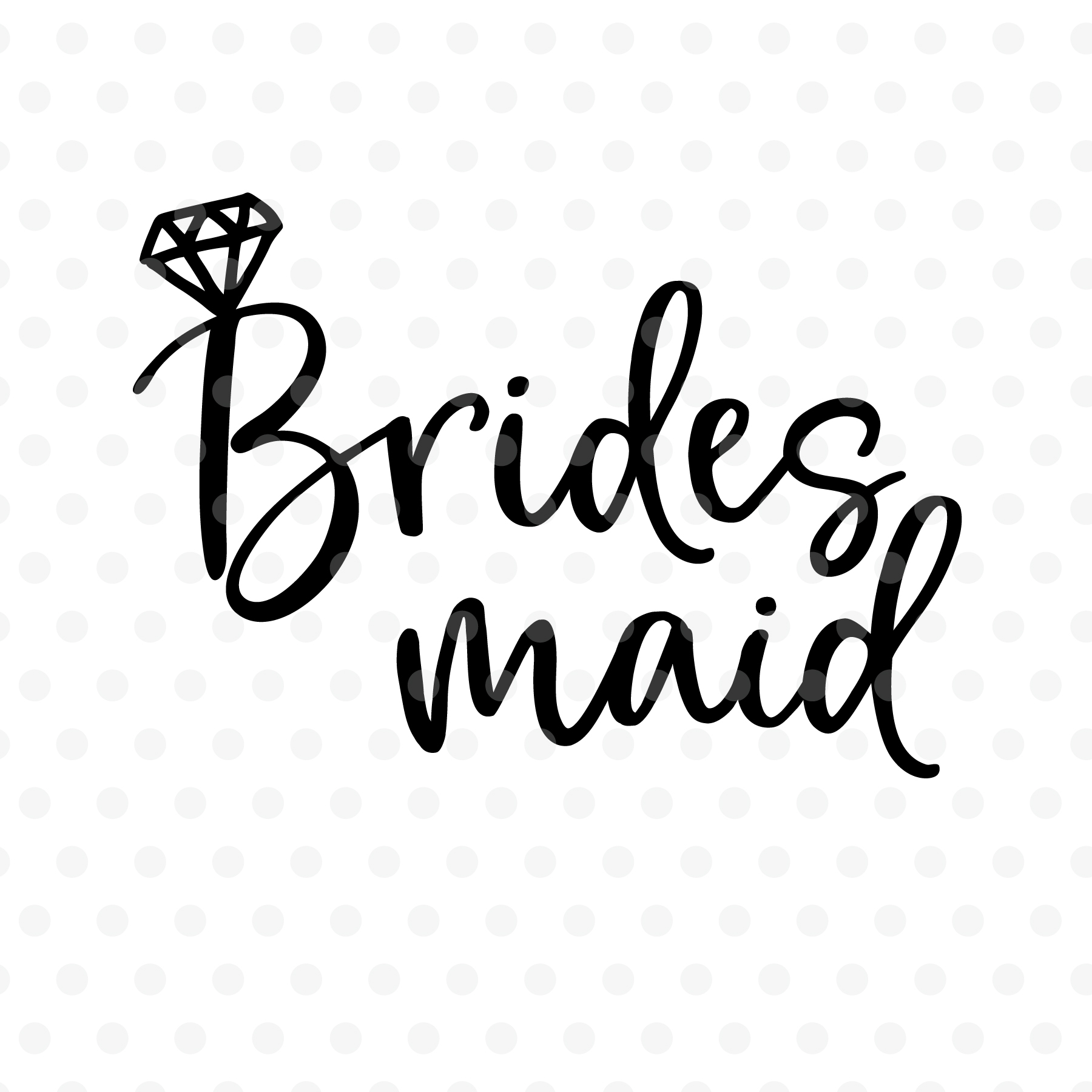 bridesmaid svg #1093, Download drawings