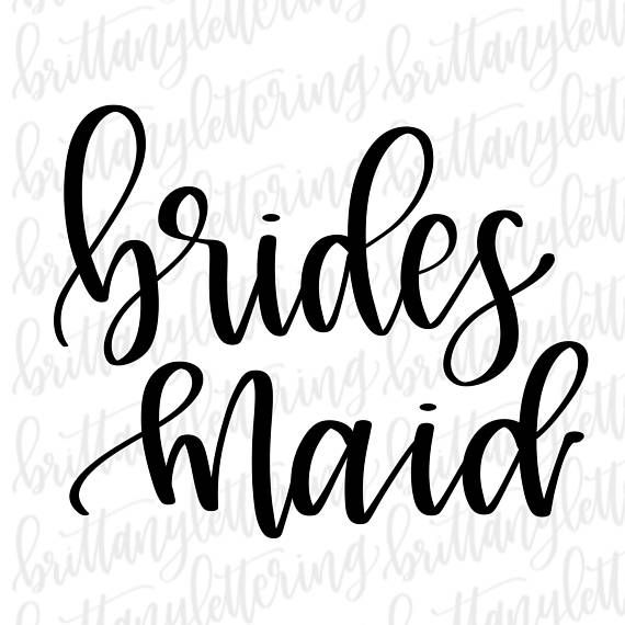 bridesmaid svg #1091, Download drawings
