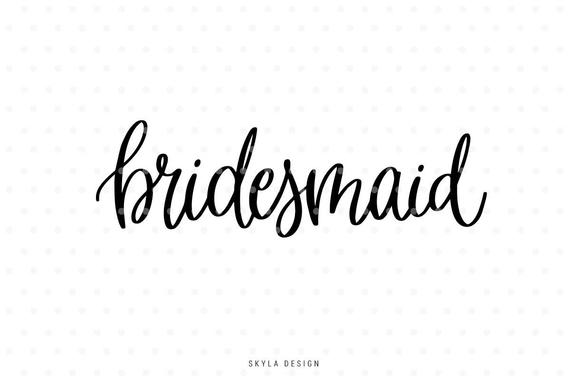 bridesmaid svg #1094, Download drawings