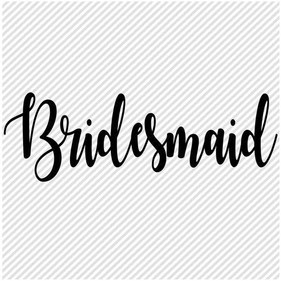 bridesmaid svg #1088, Download drawings