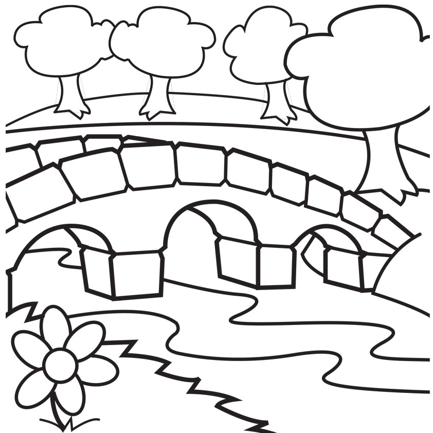 Bridge coloring #8, Download drawings