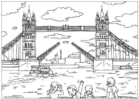 Bridge coloring #13, Download drawings
