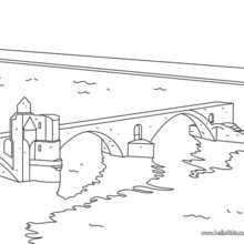 Bridge coloring #6, Download drawings