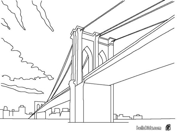 Bridge coloring #1, Download drawings