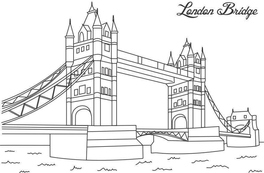 Bridge coloring #15, Download drawings