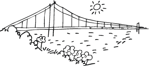 Bridge coloring #12, Download drawings
