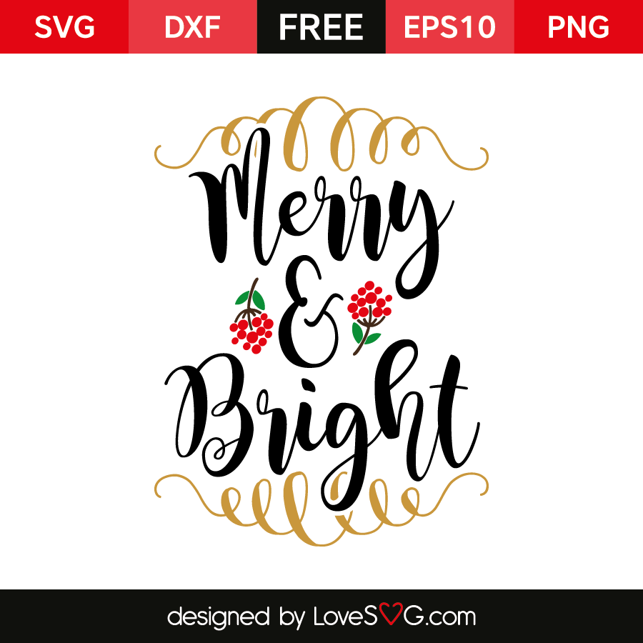 merry and bright svg free #935, Download drawings