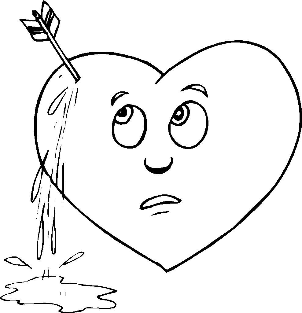 Broken Hearts coloring #17, Download drawings