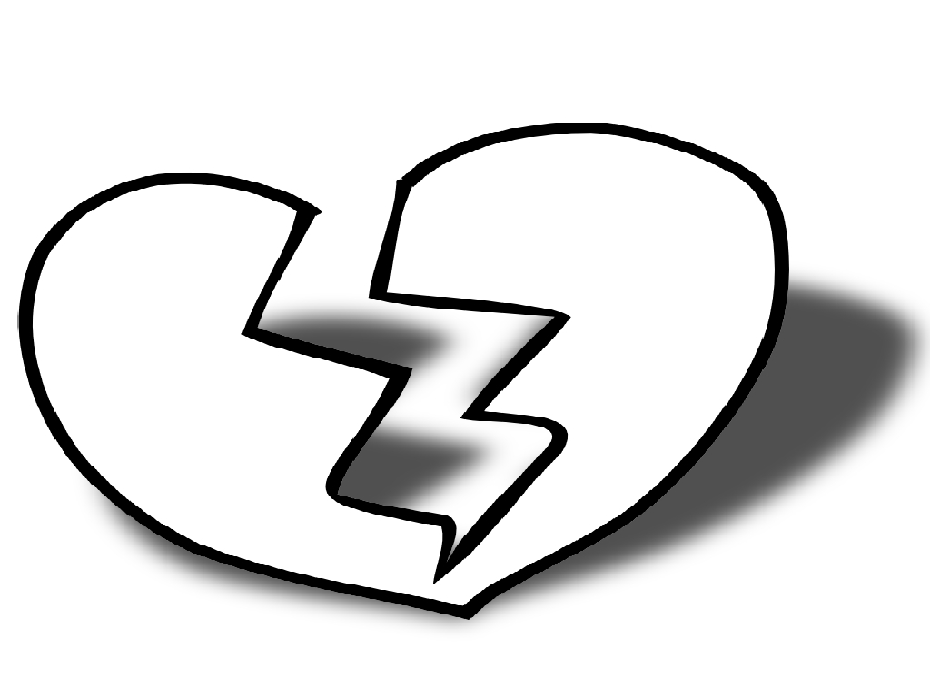 Broken Hearts coloring #13, Download drawings