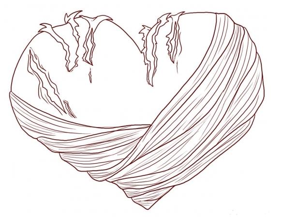Broken Hearts coloring #9, Download drawings