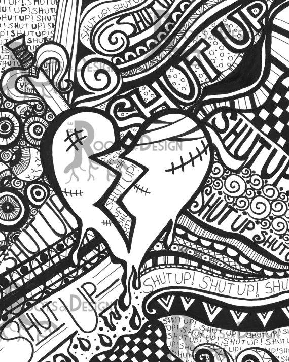 Broken Hearts coloring #10, Download drawings