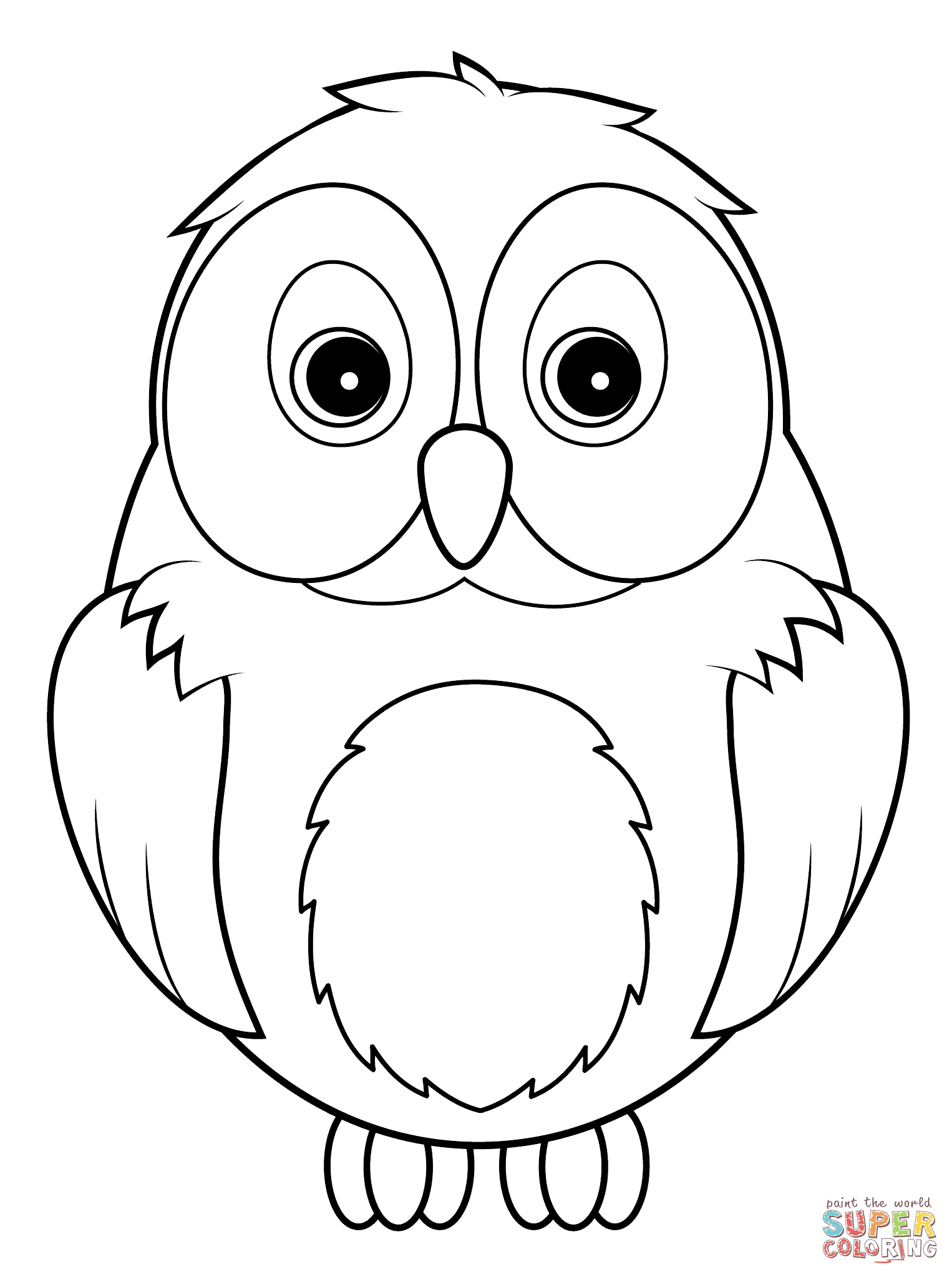 Owl coloring #18, Download drawings