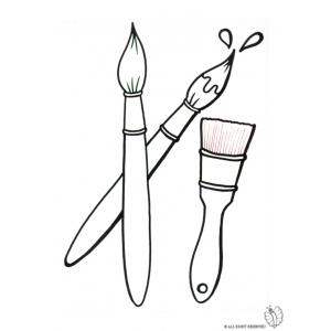 Brush coloring #3, Download drawings