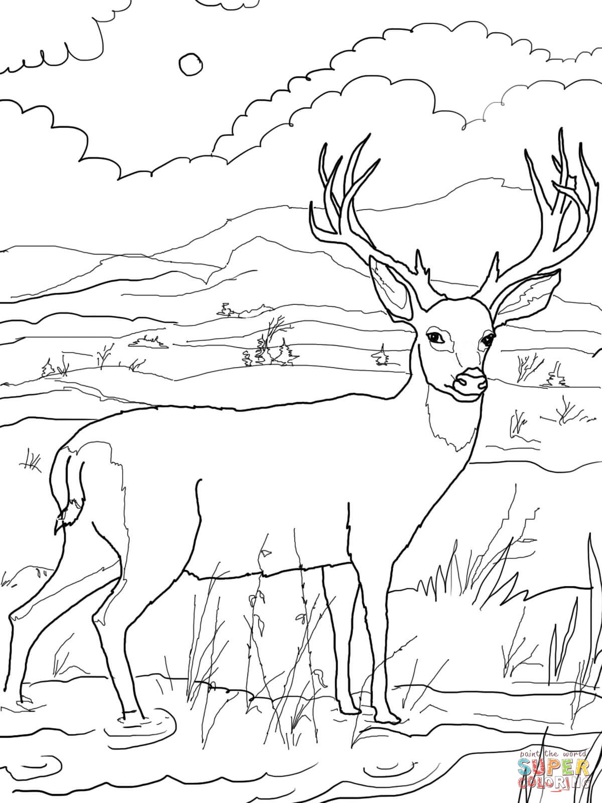 Dear coloring #6, Download drawings