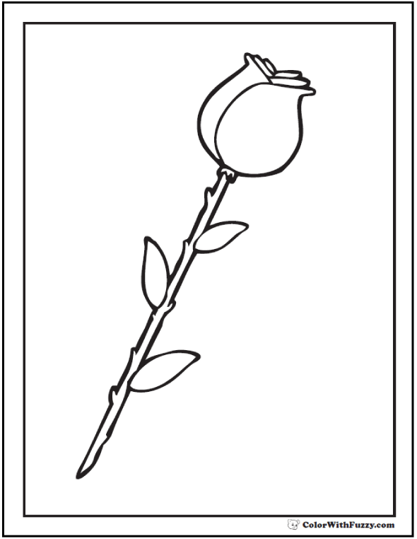 Rosebud coloring #1, Download drawings