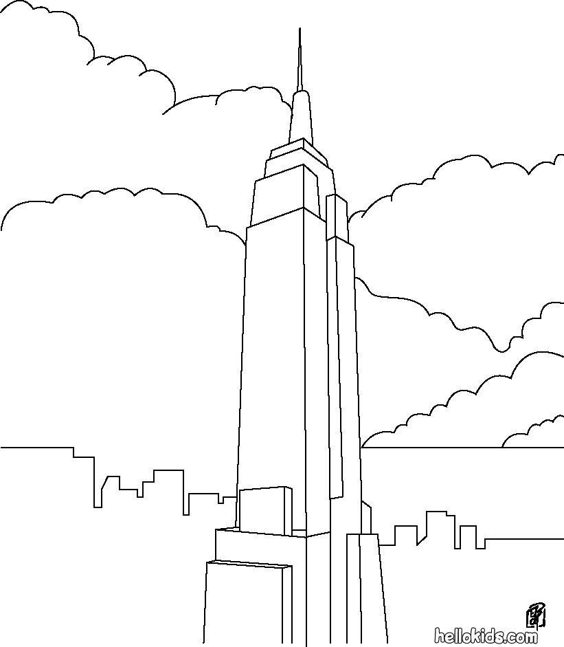 Empire State Building coloring #20, Download drawings