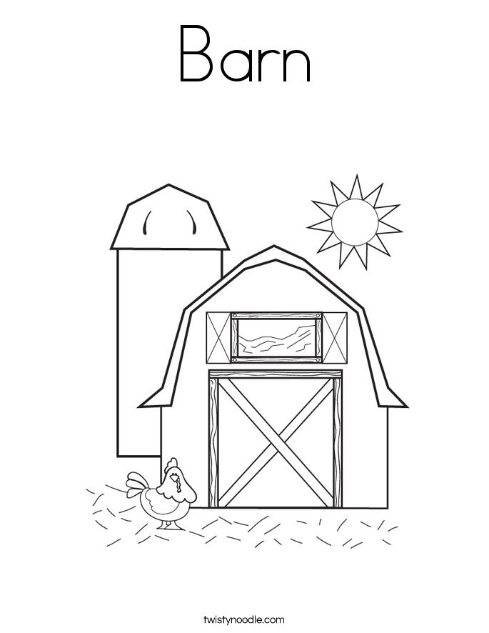 Barn coloring #20, Download drawings