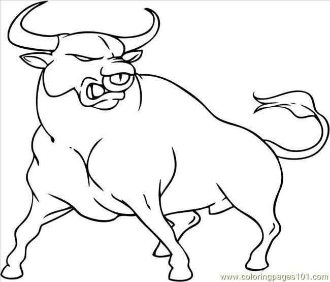 Bull coloring #14, Download drawings