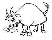 Bull coloring #10, Download drawings