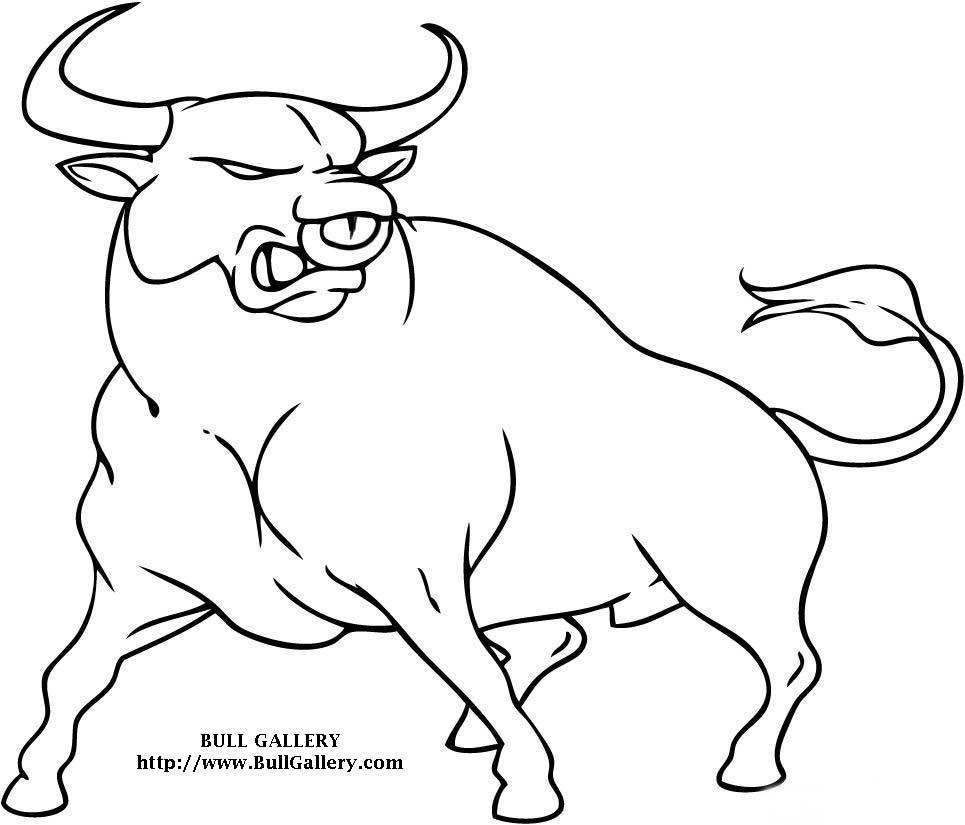 Bull coloring #4, Download drawings
