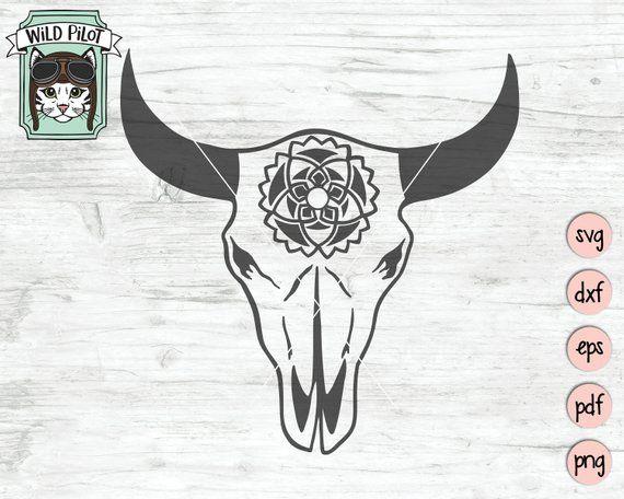 bull skull svg #444, Download drawings