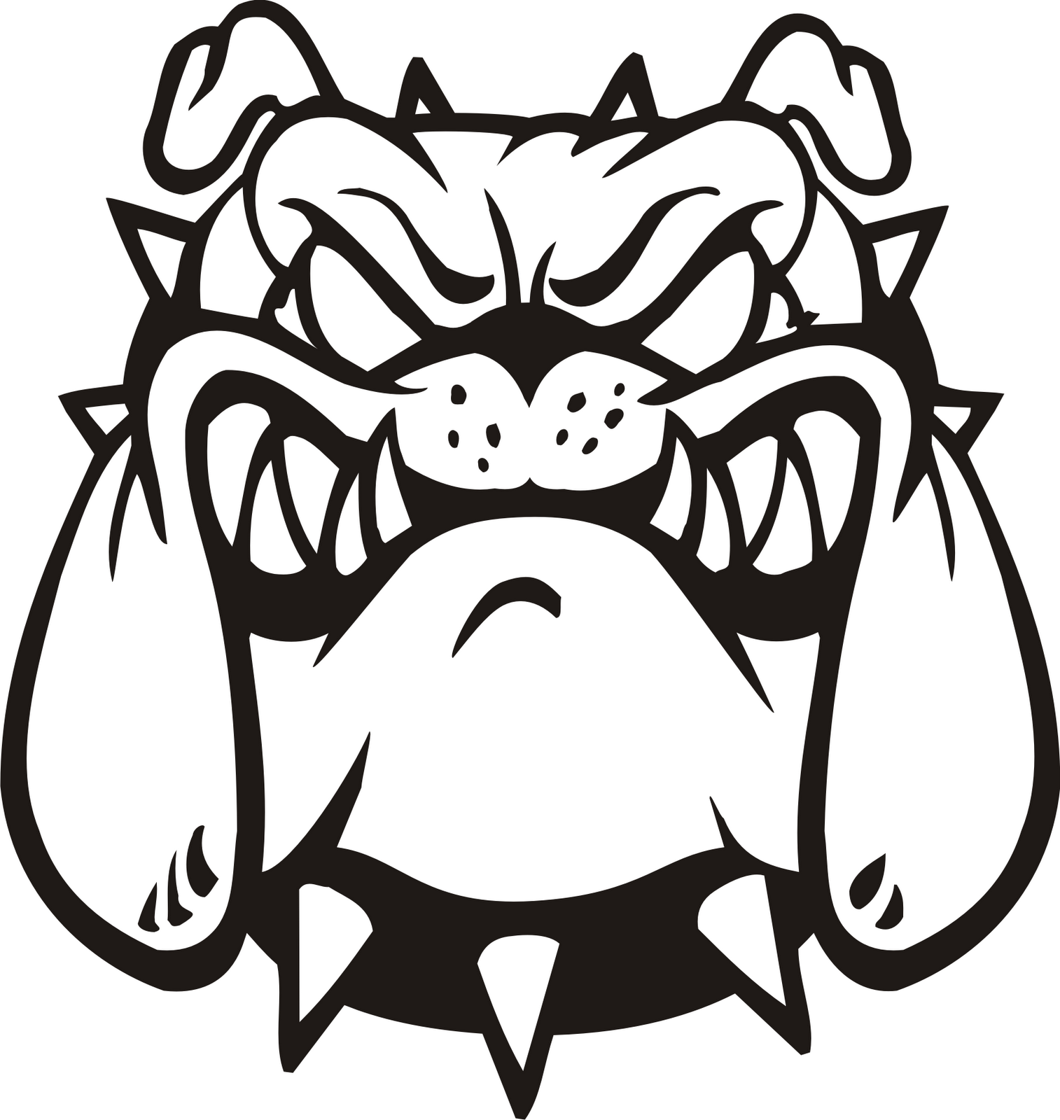Bulldog clipart #2, Download drawings