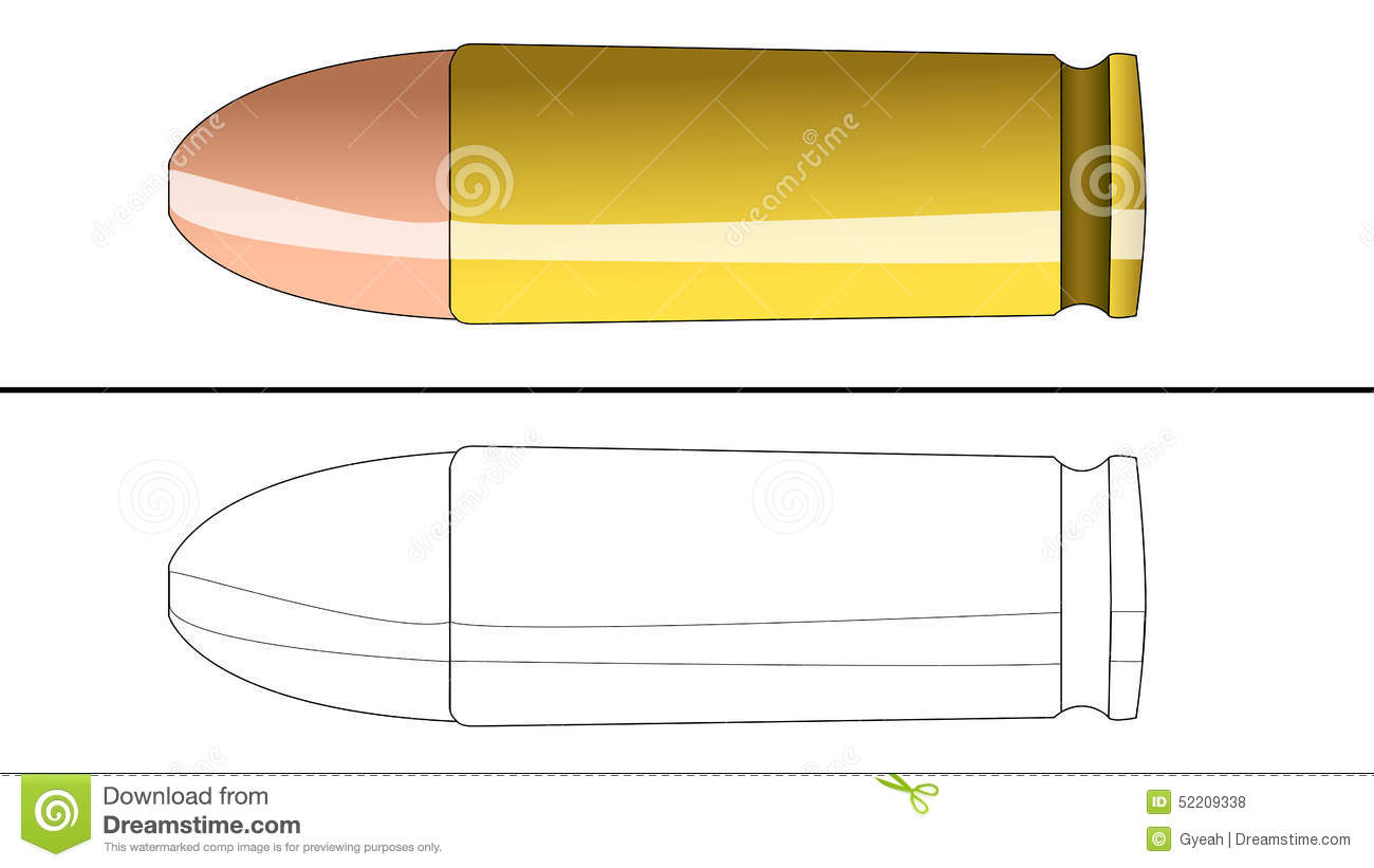 Bullet coloring #2, Download drawings