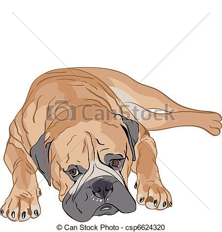 Bullmastiff clipart #8, Download drawings