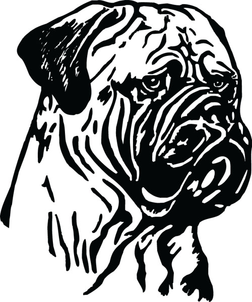 Bullmastiff clipart #11, Download drawings