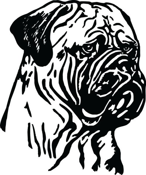 Bullmastiff clipart #11, Download drawings