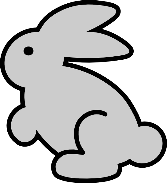 Bunny clipart #2, Download drawings