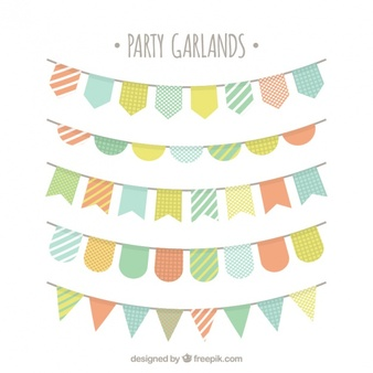 Bunting clipart #2, Download drawings