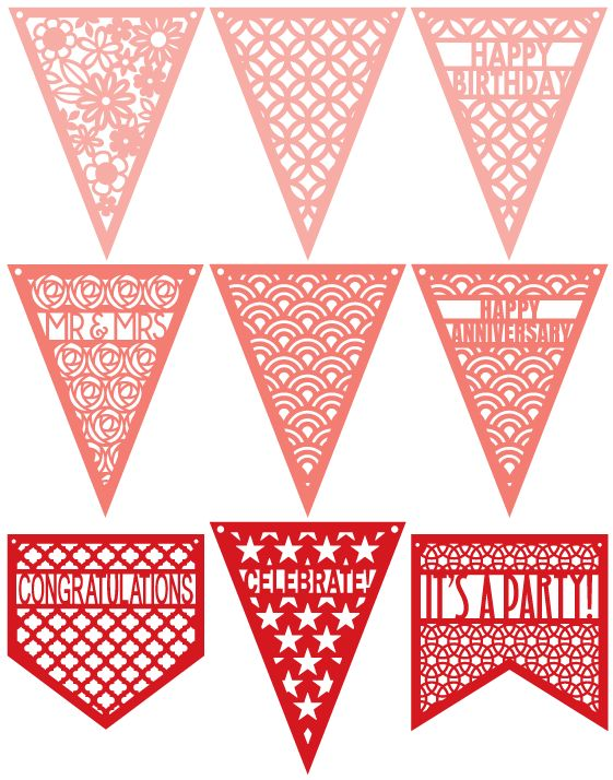 Bunting svg #5, Download drawings
