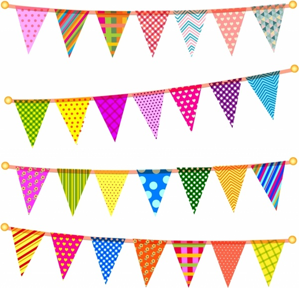 Bunting svg #16, Download drawings