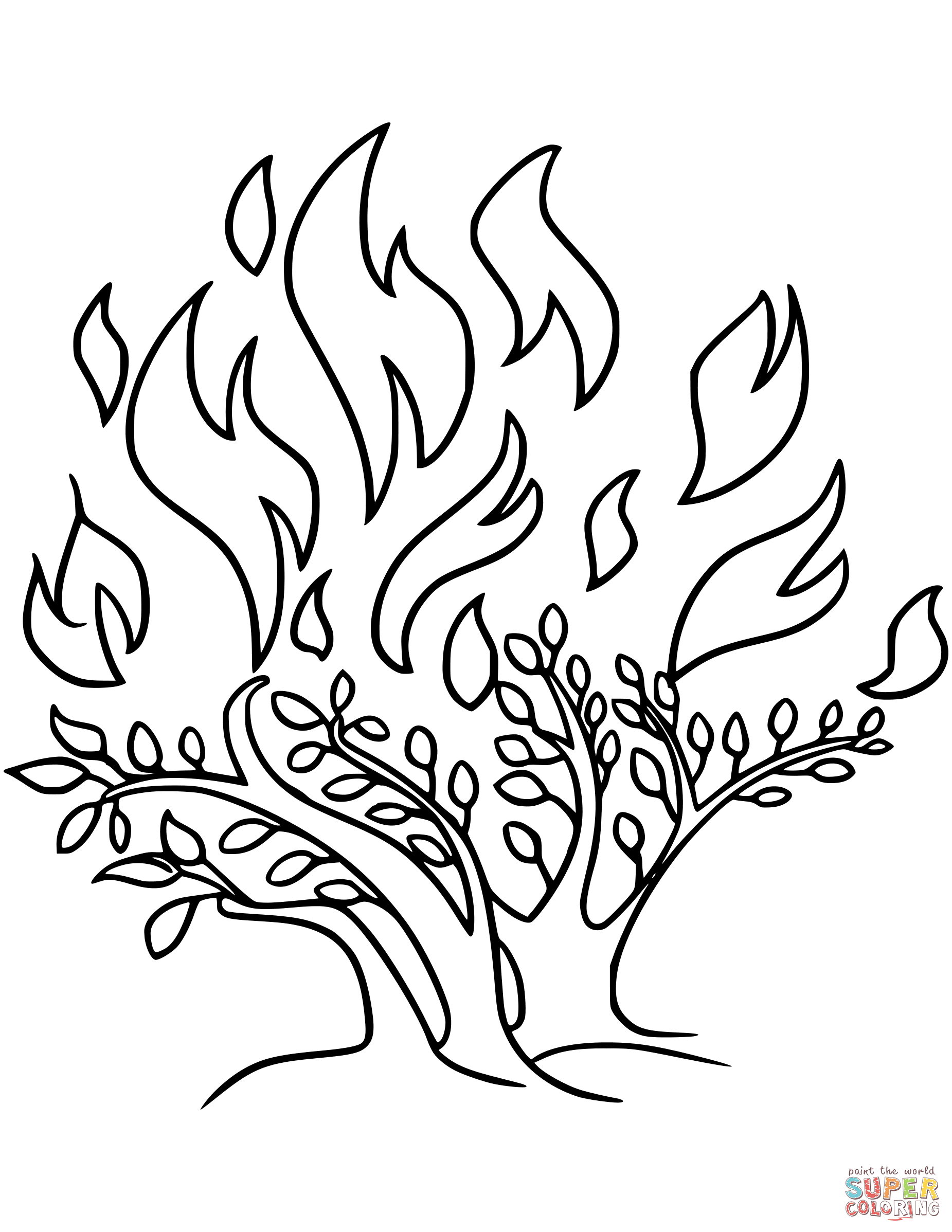 Bush coloring #10, Download drawings