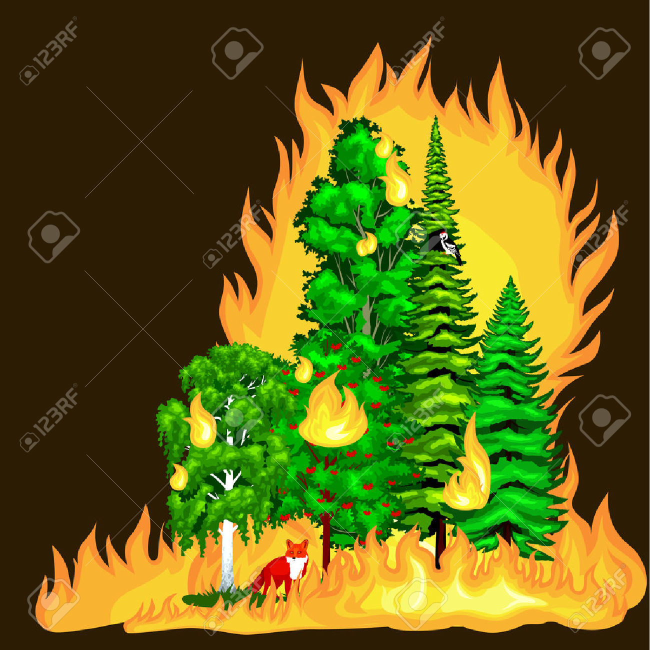 Bushfire clipart #4, Download drawings