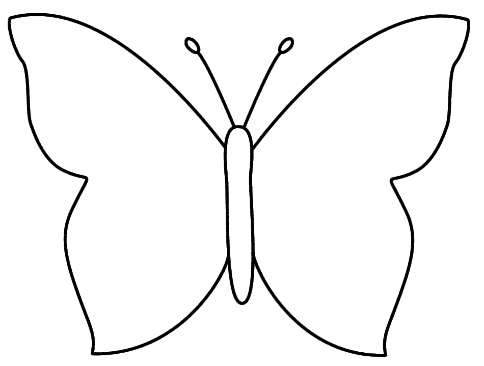 Butterfly coloring #6, Download drawings