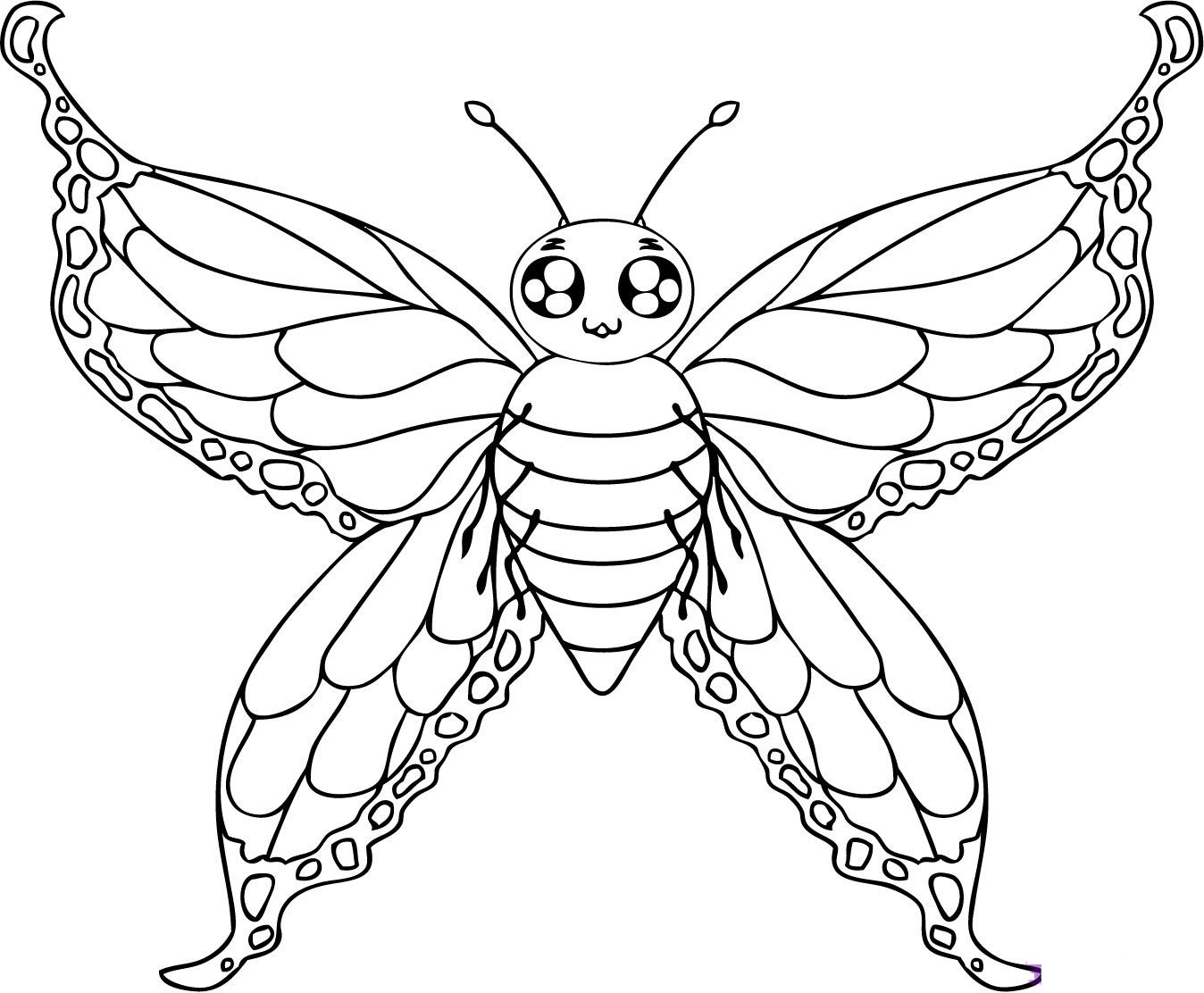 Butterfly coloring #1, Download drawings