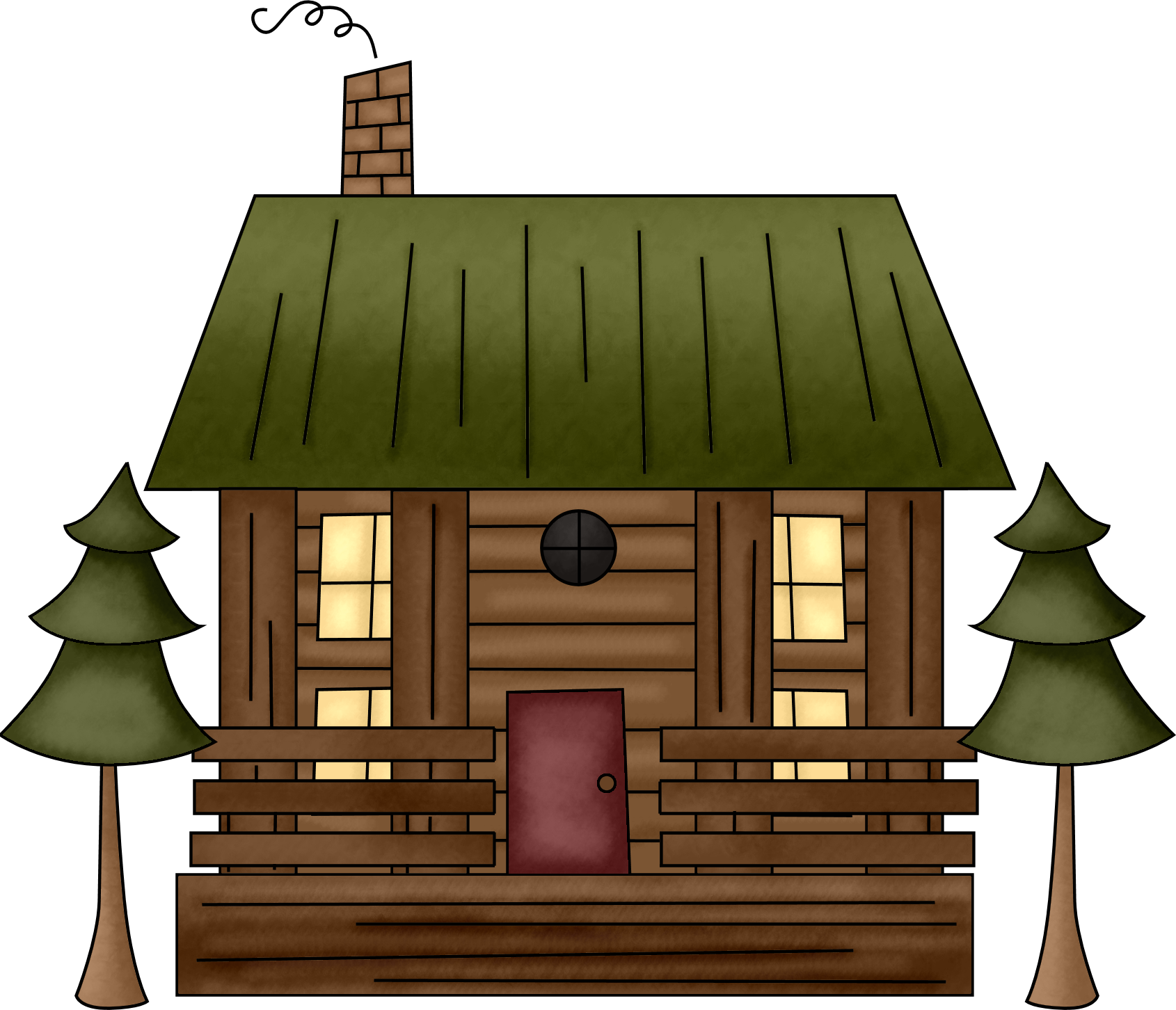 Cabin clipart #7, Download drawings