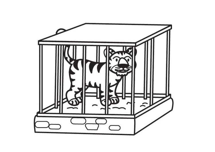 Cage coloring #7, Download drawings