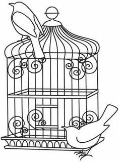 Cage coloring #5, Download drawings