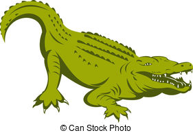 Caiman clipart #1, Download drawings