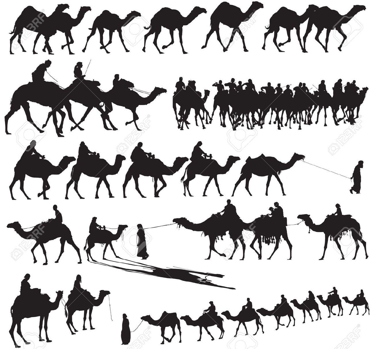 Camel Caravan clipart #2, Download drawings
