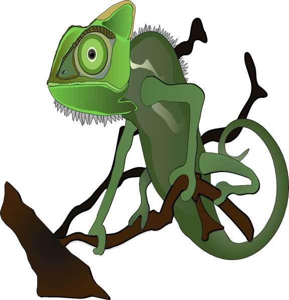 Chameleon clipart #1, Download drawings
